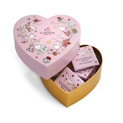 Valentine's Day Mini Heart Gift Box, 6 pc.