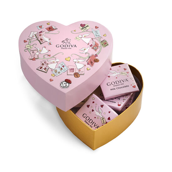Valentine's Day Mini Heart Gift Box, 6 pc. image number null