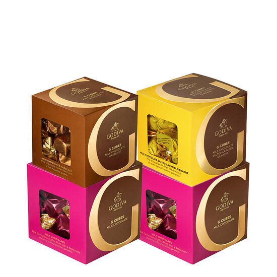 Milk Chocolate G Cube Sampler, Set of 4, 22 pcs. each image number null