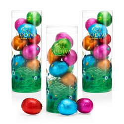 Assorted Foil-Wrapped Chocolate Easter Egg Tube, 9 pc., Set of 3