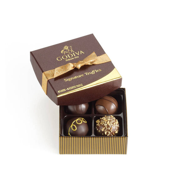 Cube Truffles Gift Box, 16 pc. & Signature Chocolate Truffles, 4 pc. image number null