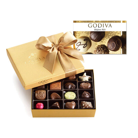 $25 GODIVA Gift Card and 19 pc. Gold Ballotin - Classic image number null