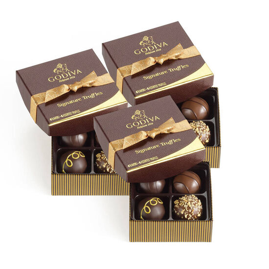 Signature Chocolate Truffles, Set of 3, 4 pc. each image number null