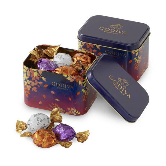 Wrapped Chocolates Fall Leaves Tin (Set of 2) image number null
