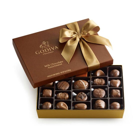 Assorted Milk Chocolate Gift Box, Classic Ribbon, 22 pc. image number null