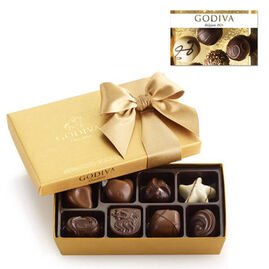 $25 GODIVA Gift Card and 8 pc. Gold Ballotin