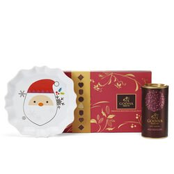 Santa Tray with Assorted Chocolate Biscuit Gift Box & Milk Chocolate Hot Cocoa
