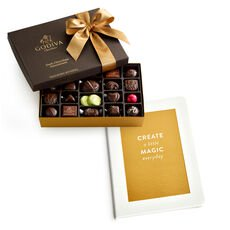 Create a Little Magic Everyday Journal with Dark Chocolate Assortment Gift Box, 27 pc.