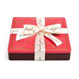 Chocolate Biscuit Tin, Thank You Ribbon, 46 pc.