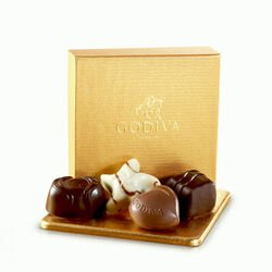 Assorted Chocolate Gold Favor, 4 pc.