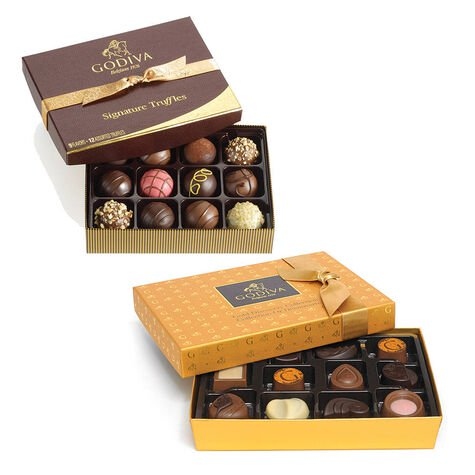 Gold Discovery Chocolate Gift Box, 12 pc & Assorted Chocolate Signature Truffles, 12 pc.