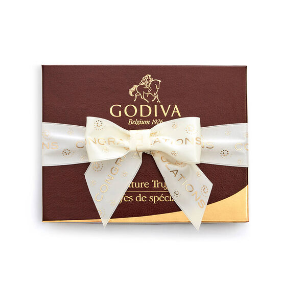 Signature Truffle Gift Box, Congratulations Ribbon, 12 pc. image number null