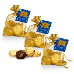 Milk Chocolate Gold Coin Bag, Set of 3, 8 pc. each