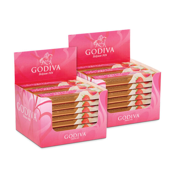 White Chocolate Strawberry Bar,  Pack of 48 image number null