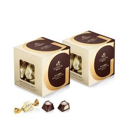 Dark Chocolate Vanilla G Cube Box, Set of 2, 22 pcs. each