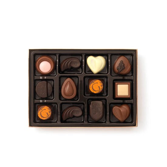 Gold Discovery Chocolate Gift Box, 12 pc & Assorted Chocolate Signature Truffles, 12 pc. image number null