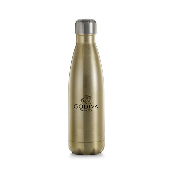 Godiva Water Bottle by S'well® with Pure 85% Dark Chocolate and Coffee Mini Bars image number null