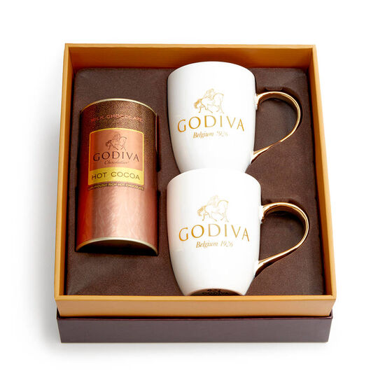 Milk Chocolate Cocoa & Mug Gift Set, Red Ribbon image number null