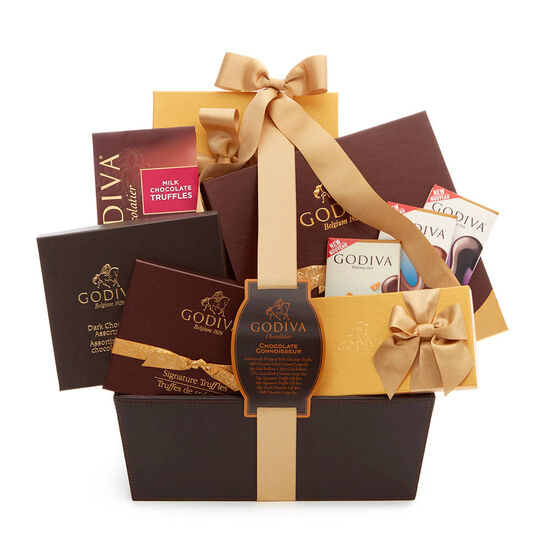 Chocolate Connoisseur Basket, Classic Ribbon image number null