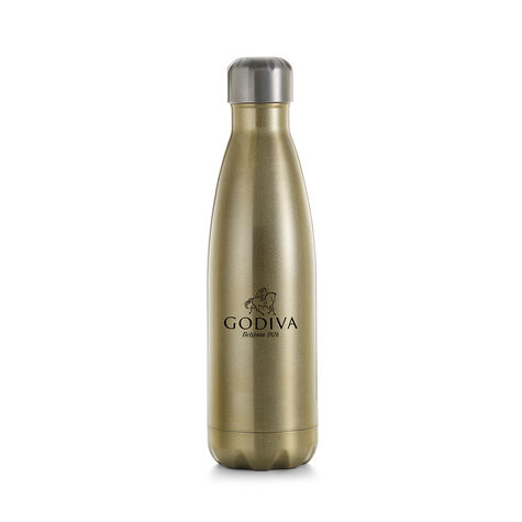 Godiva Water Bottle by S'well® with Pure 7 Day 85% Dark Chocolate Squares