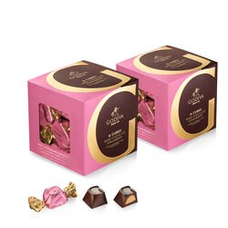 Dark Chocolate Strawberry G Cube Box, Set of 2, 22 pcs. each