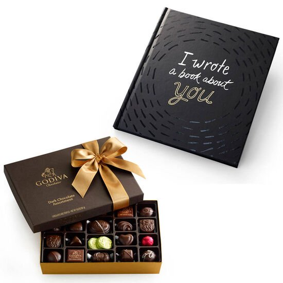I Wrote A Book About You Book & Dark Chocolate Assortment Gift Box, 27 pcs. image number null