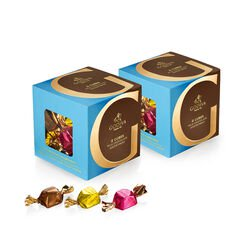 Milk Chocolate Assortment G Cube Box, Set of 2, 22 pcs. each