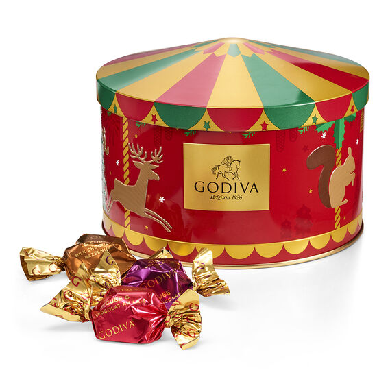 Holiday Carousel G Cube Tin, 30 pc. image number null