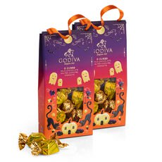 Halloween G Cube Chocolate Truffles Pouch, Set of 2, 10 pc each