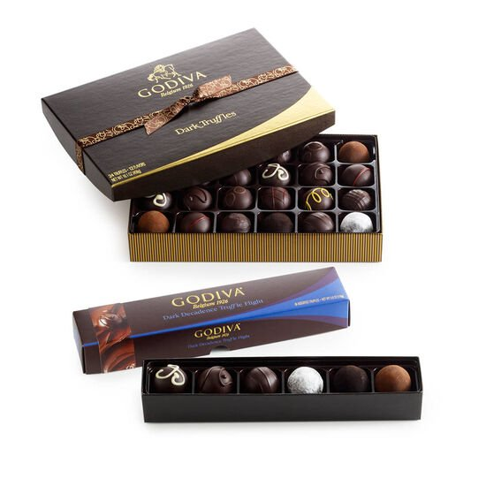 Dark Chocolate Truffle Lover's Gift Set image number null