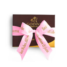 Signature Truffles Gift Box, Personalized Hot Pink Ribbon, 12 pc.