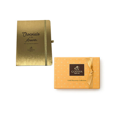 Godiva Gold Journal with Gold Discovery Box, 6 pc