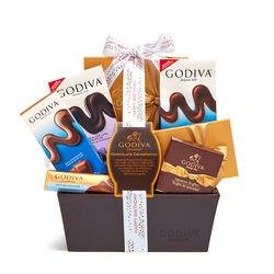 Chocolate Celebration Basket, Happy Birthday Ribbon