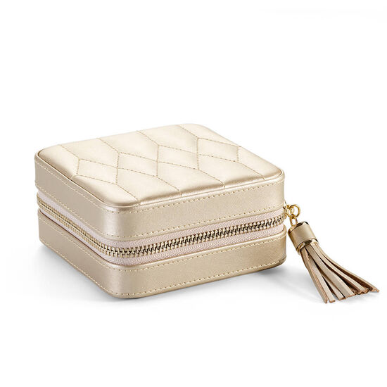 Leather Travel Jewelry Case with Patisserie Chocolate Truffles, 12 pc. image number null