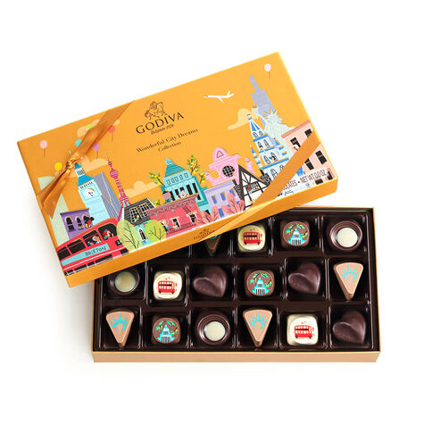 Wonderful City of Dreams Gift Box, 18 pc. with Gold Ballotin 19 pc.