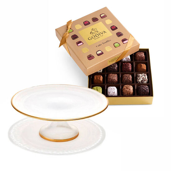 Dessert Pedestal with Cube Truffles Gift Box, 16 pc. image number null