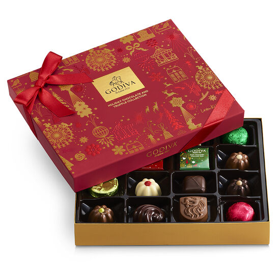 Assorted Chocolate Holiday Gift Box, 16 pc. image number null