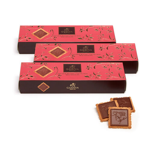 Signature Milk Chocolate Biscuits, Set of 3, 12 pc. each