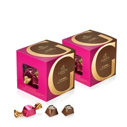 Classic Milk Chocolate G Cube Box, Set of 2, 22 pcs. each