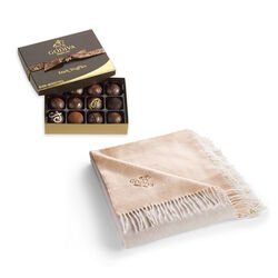 Godiva Throw with Dark Chocolate Truffles, 12 pc.