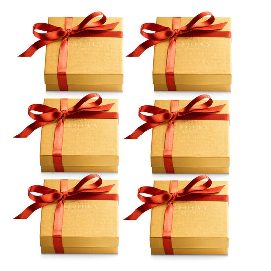 Assorted Chocolate Gold Favor, Fall Ribbon, Set of 6, 4 pc. each image number null