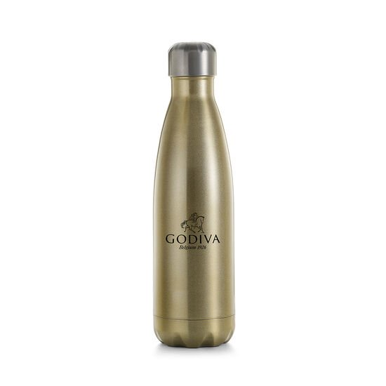 Godiva Water Bottle by S'well® with Pure 7 Day 85% Dark Chocolate Squares image number null