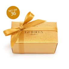 Assorted Chocolate Favor, Gold Ribbon, Set of 36, 2 pc. each