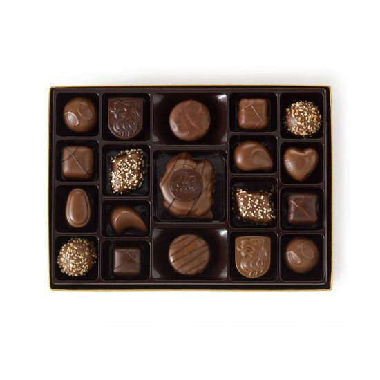 Nut and Caramel Gift Box, Fall Ribbon, 19 pc. image number null