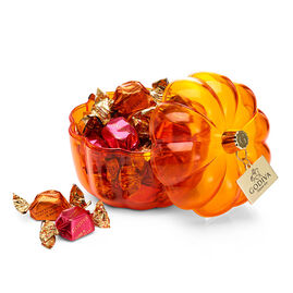 Festive Pumpkin Candy Dish with assorted G Cubes, 21 pc.