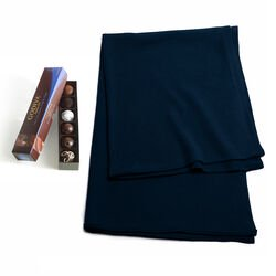 Navy Shawl with Dark Decadence Truffle Flight, 6 pc.