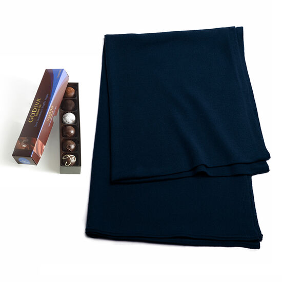 Navy Shawl with Dark Decadence Truffle Flight, 6 pc. image number null