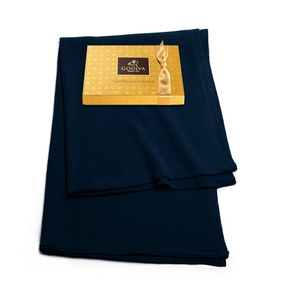 Navy Shawl with Gold Discovery Gift Box, 12 pc. image number null