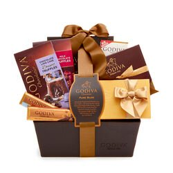 Pure Bliss Chocolate Gift Basket, Classic Ribbon