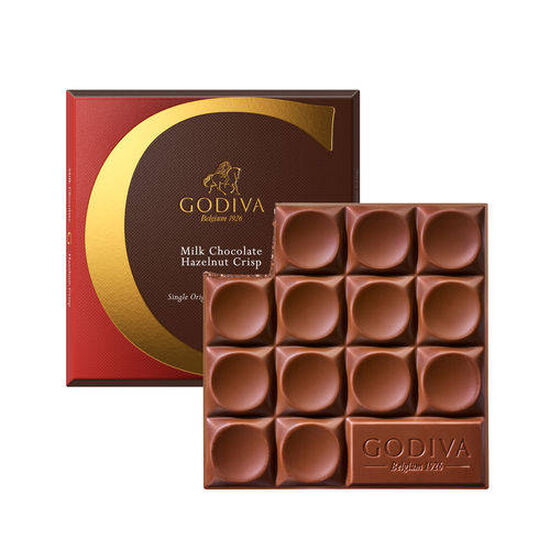 G by Godiva Milk Chocolate Hazelnut Crisp Bar, 42% Cocoa, Set of 8, 2.7 oz. each image number null